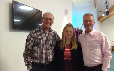 Rachel with Alistair and David